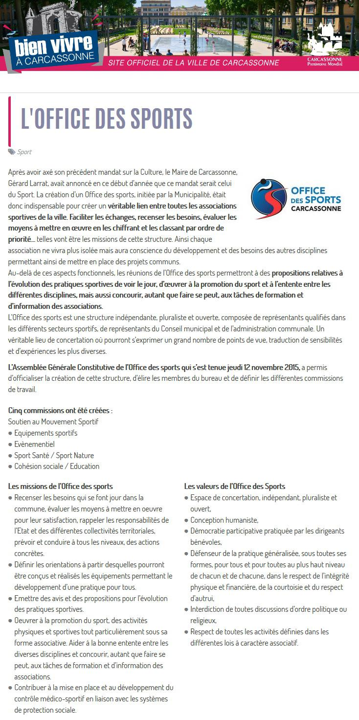 Election Office des sports 2017